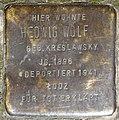 Stolpersteine Köln, Hedwig Wolf (Schaevenstraße 4).jpg