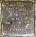 Stumbling block for Hedwig Wolf (Schaevenstraße 4)