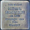 Stumbling stone for Hermann Falkenstein (Blaubach 67)