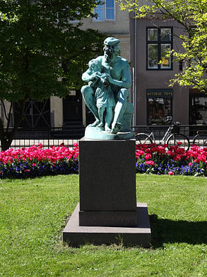 Otto Evens - Image: Store Strandstræde statue
