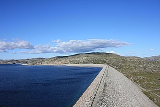 Renewable energy in Norway - The Ulla-Førre hydropower complex has an installed capacity of approximately 2,100 MW