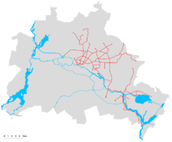 Map of the network, 2009.