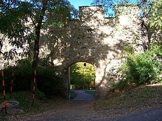 Petřín - Hunger Wall at Petřín hill