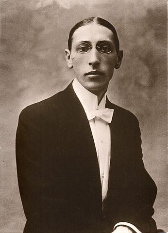 Молодой Игорь Стравинский. (1910 год)