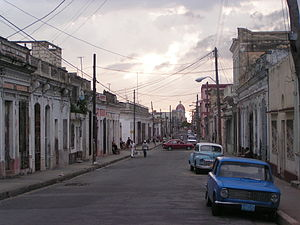 Cienfuegos - Typical street in Cienfuegos