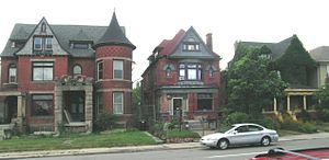Woodbridge, Detroit - West side of Trumbull between Willis and Selden