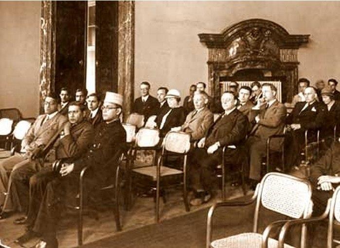 Subhas Bose at inauguration of India Society Prague 1926