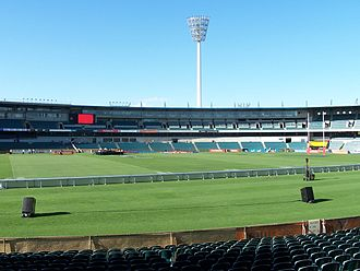Subiaco Oval - Subiaco Oval being configured for a Super 14 match in 2006.