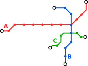 Córdoba Metro - Map of the current proposal for the system.