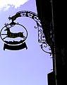Suisse, canton de Vaud, Lausanne, colline de la Cité, enseigne de marchand.jpg