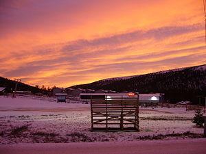 Sälen - Sunset and snow in Sälen