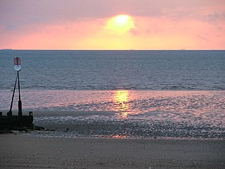 The Wash Bay and estuary at the north-west corner of East Anglia on the East coast of England,