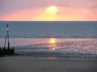 The Wash - Image: Sunset at Hunstanton geograph.org.uk 39921