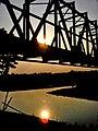 Sunset over a bridge, Bangladesh.jpg