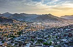 Sunset over the Mingora City, Swat Valley, Pakistan.jpg