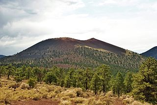 Sunset Crater mountain in United States of America