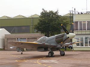 Leuchars Station - Supermarine Spitfire FR Mk.XVIIIe SM845 at the RAF Leuchars airshow in 2008