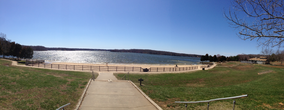 Photograph of the swimming beach at Lake Anna State Park in Virginia, USA