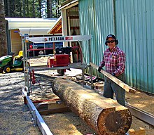 Used Portable Sawmills For Sale >> Portable Sawmill Wikipedia