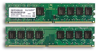 Random-access memory - Example of writable volatile random-access memory: Synchronous Dynamic RAM modules, primarily used as main memory in personal computers, workstations, and servers.