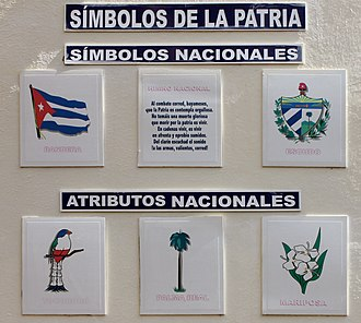 Coat of arms of Cuba - Image: Symbols of the Fatherland (Cuba) in Sancti Spiritus