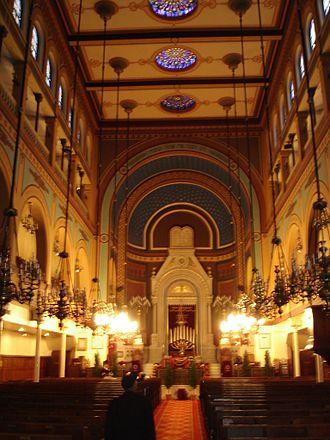 Synagogue de Nazareth - View of the interior of the synagogue