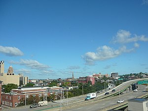 Interstate 81 in New York - I-81 at I-690 in downtown Syracuse