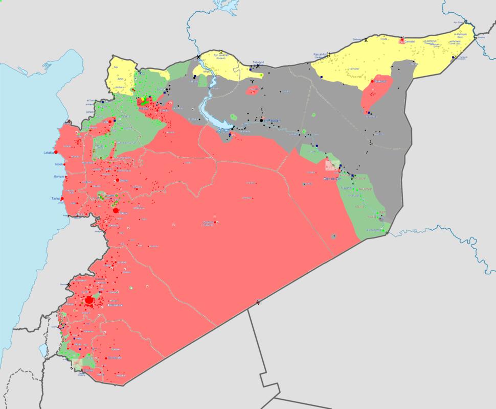 Syrian war map 18 6 14