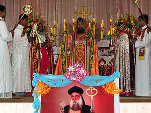 Holy Qurbana - An Eastern Catholic Cardinal of the Syro-Malankara Catholic Church celebrating Holy Qurbono in West Syriac