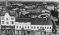 Szatmárnémeti 1943, Deák tér (Piata Libertatii), balra a Tűzoltó-torony, jobbra a háttérben a Törvényszék. Fortepan 25973.jpg
