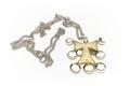 T-formigt kors, striglakors, av förgyllt silver med nio runda, kupiga hängen - Skoklosters slott - 92333.tif