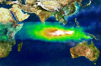 Carbon dioxide in Earth's atmosphere - Image: TOMS indonesia smog lrg