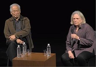 Saratoga International Theater Institute - Tadashi Suzuki with Anne Bogart in 2017.