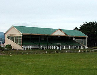 Andersons Bay - The grandstand at Tahuna Park