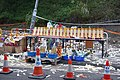 Tai Po Road Double-decker Bus Tilted Incident (3, clear resolution).jpg