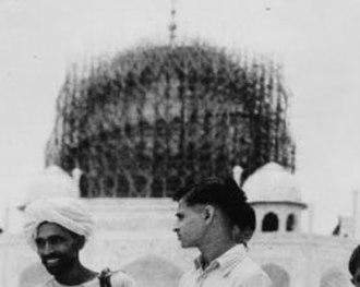 Taj Mahal - Protective wartime scaffolding