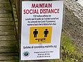 Tamalpais Community Services District social distancing sign, Richardson Bay.jpg