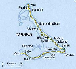 Map of the Tarawa atoll