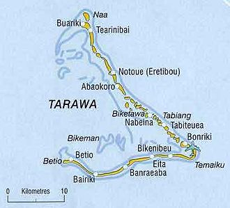 Tarawa - Map of the Tarawa atoll