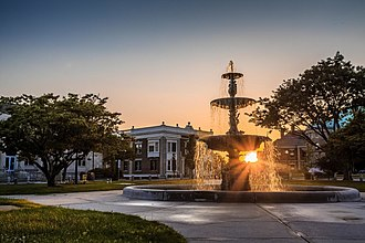 Taunton, Massachusetts - Soper Fountain on Historic Taunton Green