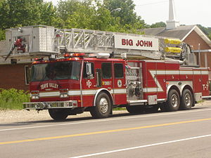 Teays Valley, West Virginia - Image: Teays Valley Fire Department Truck 7