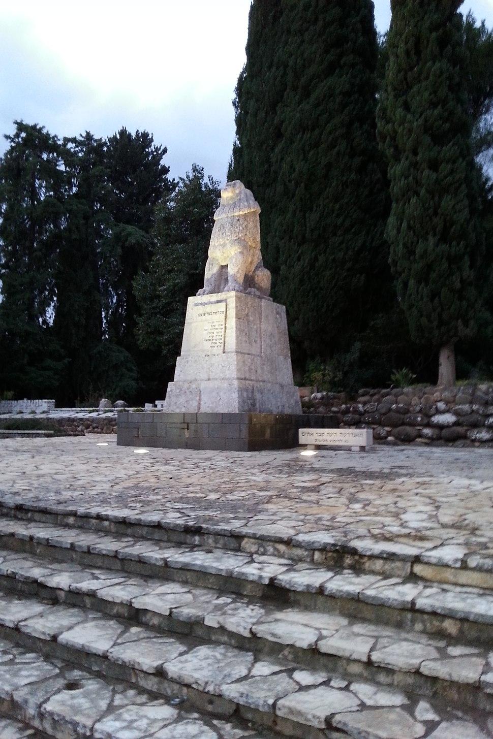 Tel Hai Roaring Lion Monument