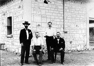 Alice Springs Telegraph Station - Staff at the Alice Springs Telegraph Station.