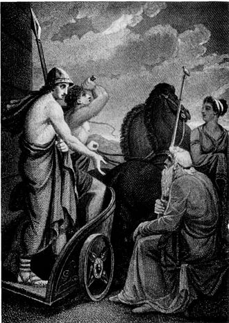 Telemachus - Image: Telemachus departing from Nestor Henry Howard Project Gutenberg e Text 13725