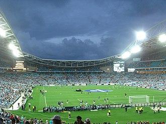 Australia 2022 FIFA World Cup bid - Image: Telstra Stadium at Night