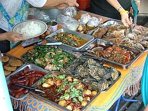 Regional street food - Street food packaged in plastic bags in Bangkok, Thailand