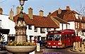Thames Ditton Village LONDON BUSES LEYLAND National LS351, K10 route, c 1989.jpg