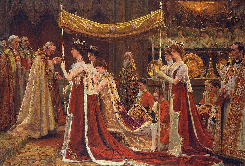The Anointing of Queen Alexandra at the Coronation of Edward VII