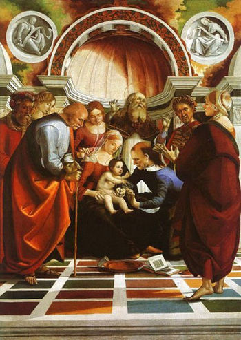 The_Circumcision,oilpainting by Luca Signorelli.