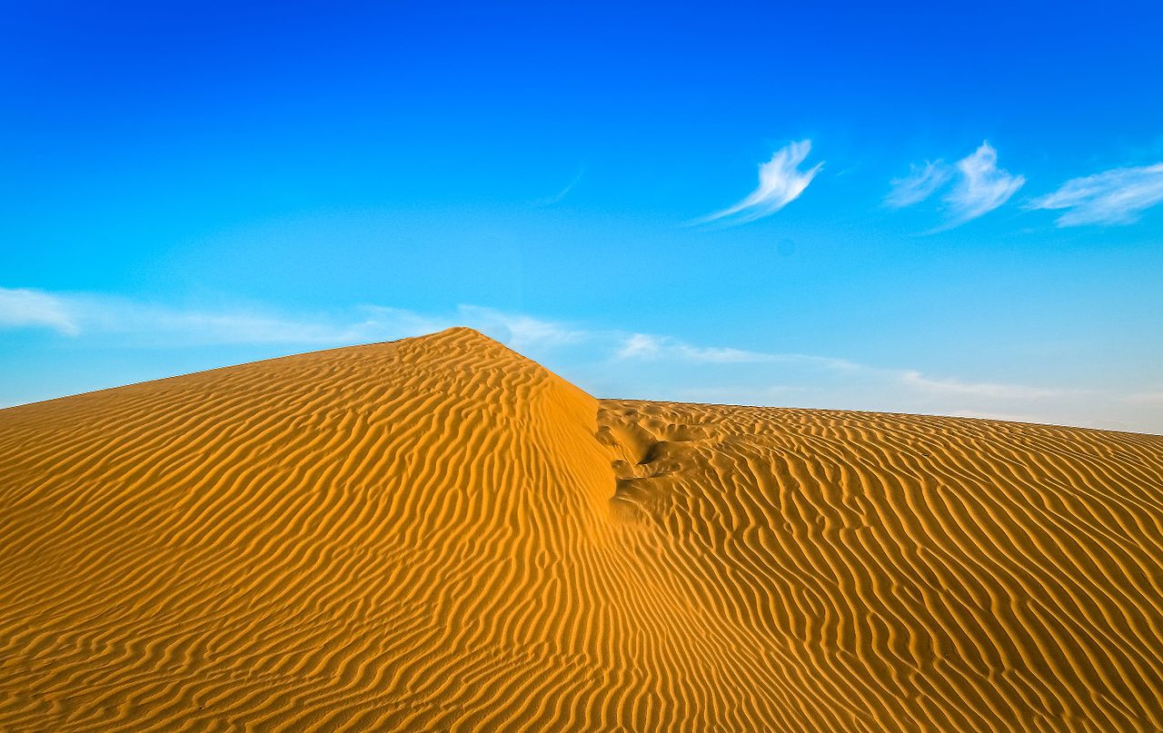 The Great Indian Desert Thar lies mostly in Rajasthan states of India and extended into the some portion of Haryana punjab and Rann of Kutch in Gujrat